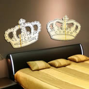 Royal Crowns wall mirrors