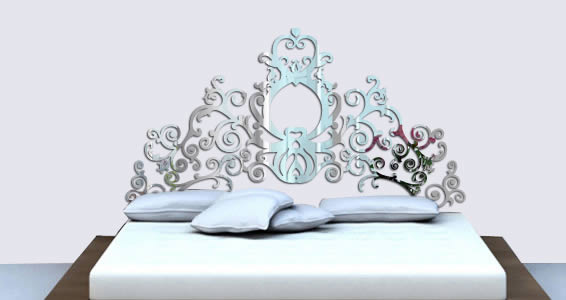 Grand Royal Headboard wall mirrors