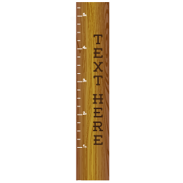 Custom Wooden Ruler chart decal