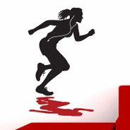 Runner Girl sport decals