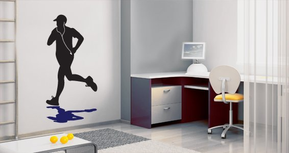 Running Man wall decal
