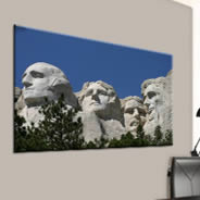 Rushmore digital painting on canvas