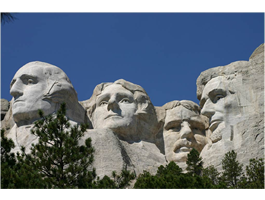 Rushmore Monument see through car decal