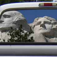 Rushmore Monument see through car  window decals
