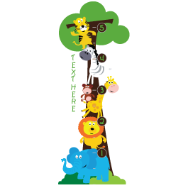 Custom Safari Farm growth chart decals