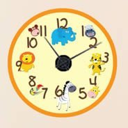 Safari Farm wall decal clock