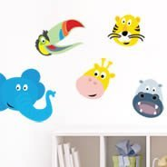 My Safari Friends wall decals
