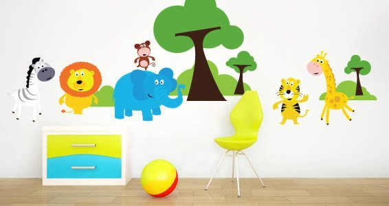 Safari farm wall decals
