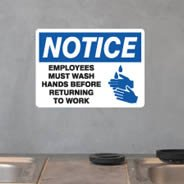 Safety Hand Wash sign decal