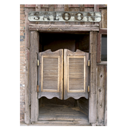 Saloon Doors Dry Erase Furniture Skin Sticker