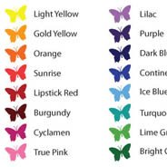 COLOR CHART + Samples: $5.5 deducted from final order