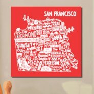 San Francisco City Art wall canvas