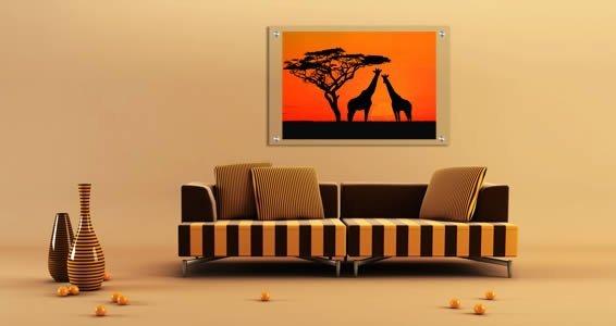 Giraffes Plexiglass Stand Off