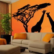 Savanah wall mural