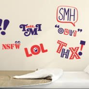 Say What wall decals pack