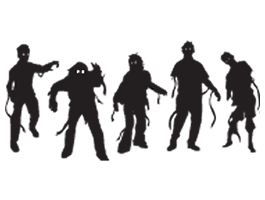Scary Zombies wall stencils