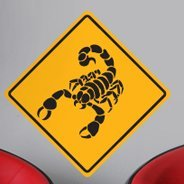 Scorpion sign wall decal
