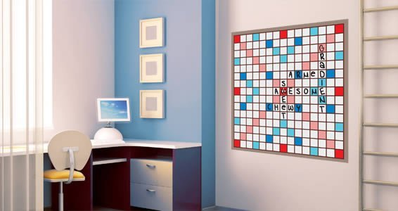 Dry Erase Scrabble Wall Decals