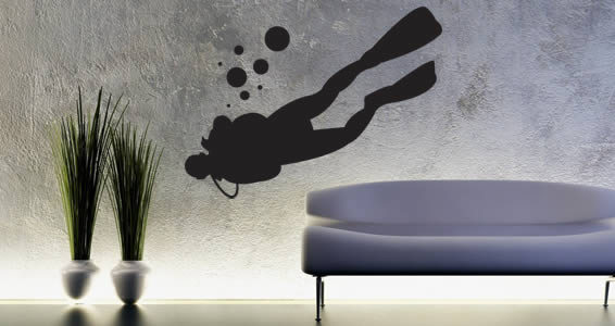 Scuba Diver wall decals