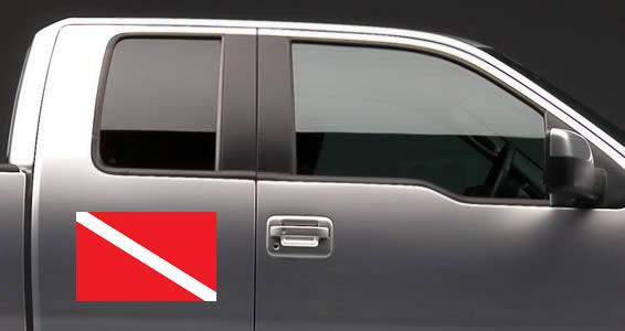 Scuba Flag car decals