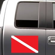 Scuba Flag car decals