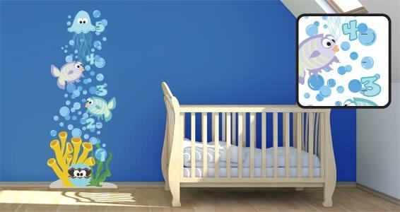 Sea Creatures decal growth chart