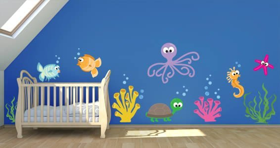 Sea Creatures wall decal pack