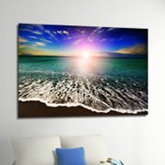 Ocean Seashore Sunset Beach wall canvas