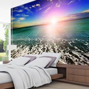 Ocean Seashore Sunset wall murals