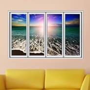 Ocean Seashore Faux Window Murals