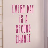 Second Chance quote decals