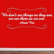 Bicolor See Things quote decals