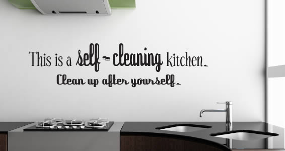 Self Cleaning Kitchen wall decal
