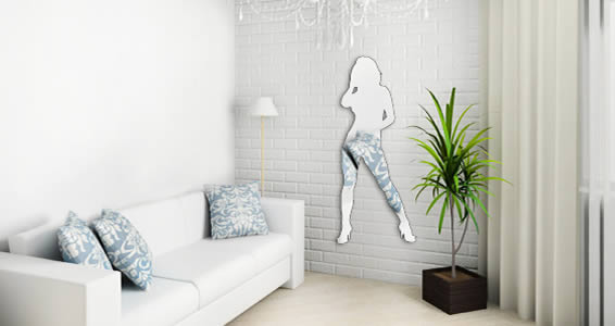 Acrylic Wall Mirror sexy girl wall mirrors | dezign with a z