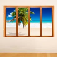 Seychelles Ocean Beach - Faux Windows