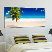 Seychelles Paradise Beach wall canvas