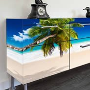 Paradise Beach Dry Erase Furniture Decal Skin