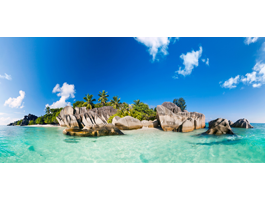 Seychelles Island wall canvas