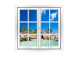 Paradise Islands Faux Window Murals