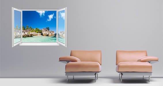 Paradise Islands Faux Window Murals