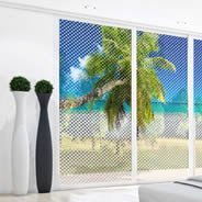 Palm Tree Beach see through window decals