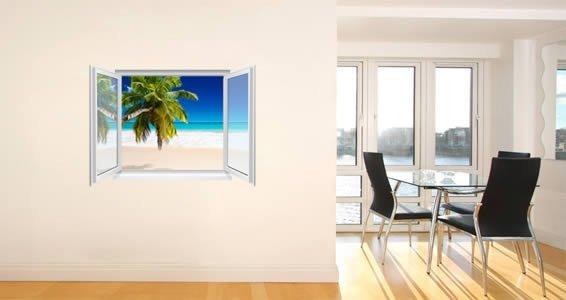 Ocean Beach Faux Window