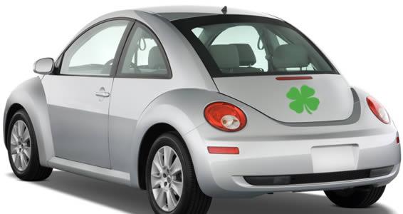 Shamrock car decals