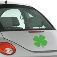 Shamrock car decals