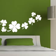 Shamrock Clovers wall decals