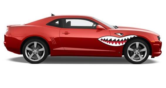 Shark Teeth car decals