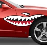 Shark Teeth car decals