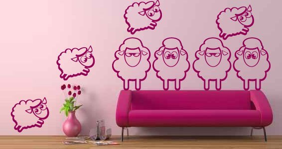 The Counting Sheep wall clings