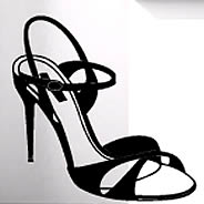 Kelly Shoe vinyl wall stickers