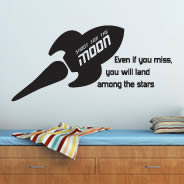 Shoot For The Moon quote decal